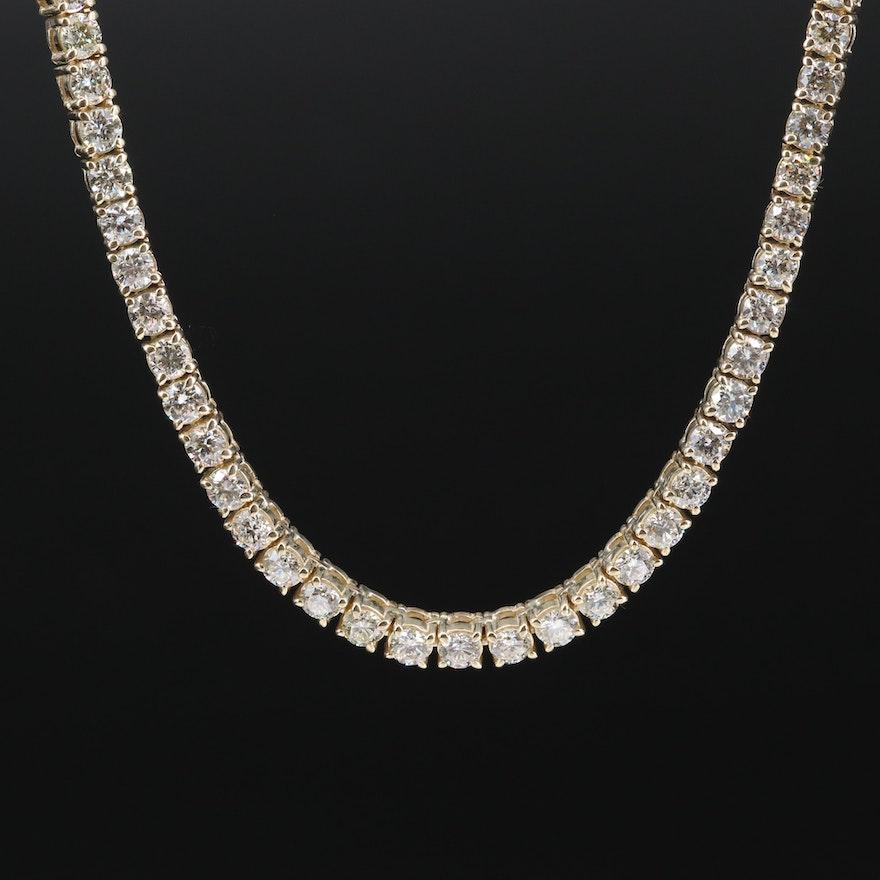 10K 16.84 CTW Diamond Necklace