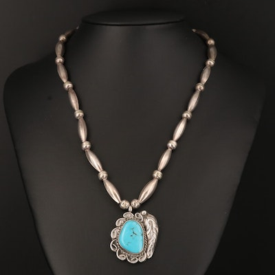 Southwestern Sterling Turquoise Necklace