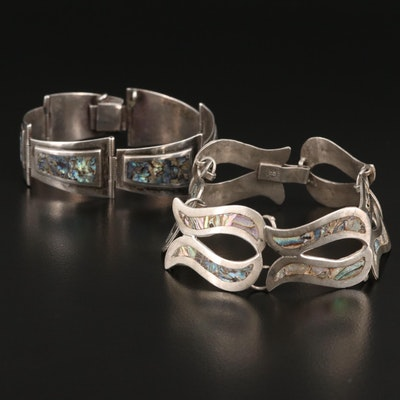 Sterling Silver Abalone Inlay Bracelets