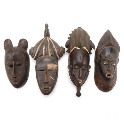 West African Carved Wood Masks