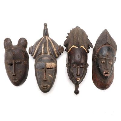 West African Carved Wood Masks