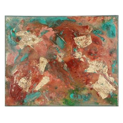 """Stefan Georg Mixed Media Painting """"Southwestern Memoirs,"""" 2021"""