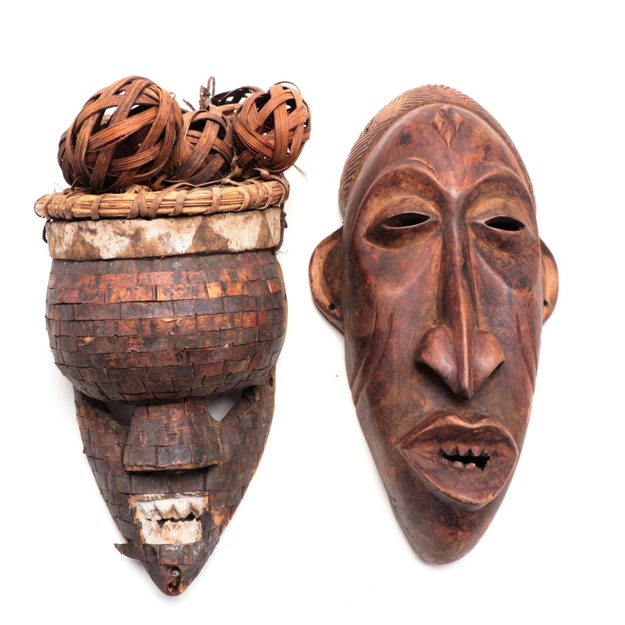 Salampasu Style Mask and Other Central African Mask
