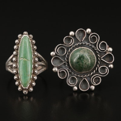 Sterling Silver Serpentine Rings