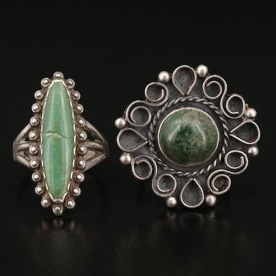 Sterling Silver Serpentine Rings