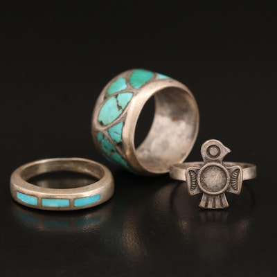 Southwestern Sterling Rings Including Turquoise