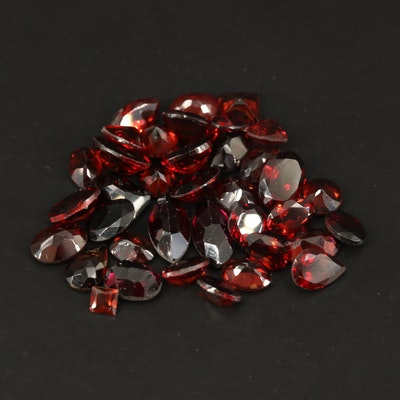 Loose 29.38 CTW Faceted Garnets