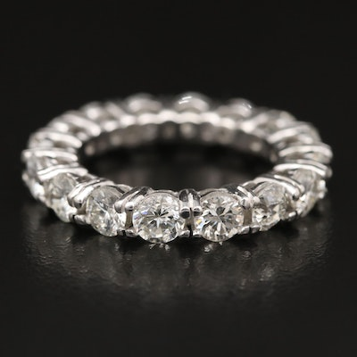 Platinum 4.30 CTW Diamond Eternity Band