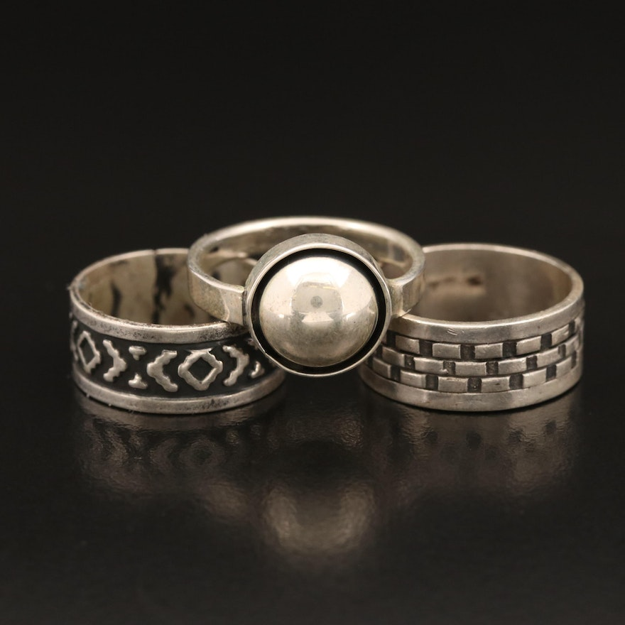 Sterling Ring and Bands