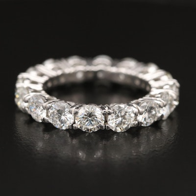 Platinum 4.84 CTW Diamond Eternity Band