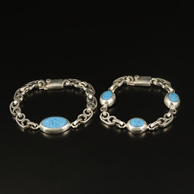 Sterling Denim Lapis Bracelets