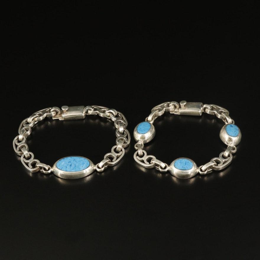 Sterling Denim Lapis Bracelets