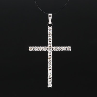 14K 1.55 CTW Diamond Cross Pendant