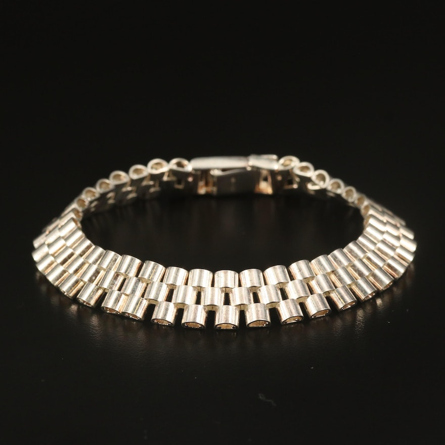 Sterling Panther Chain Bracelet