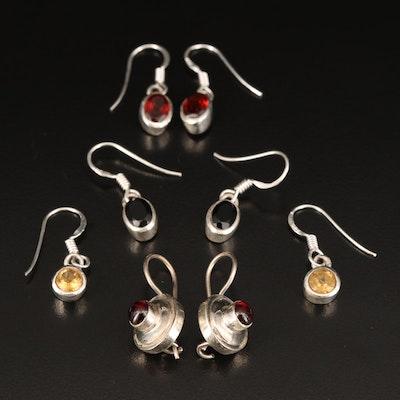 Sterling Garnet Earring Selection