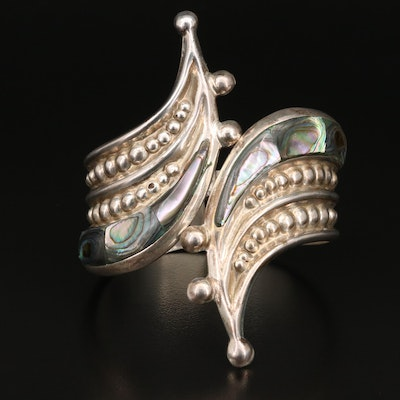Mexican Sterling Silver Abalone Clamper