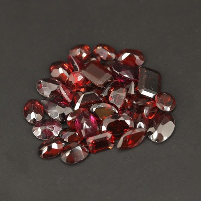 Loose 31.90 CTW Faceted Garnets