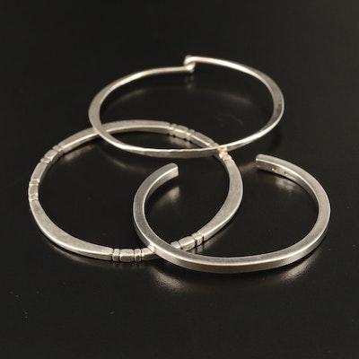 Sterling Silver Bracelets Featuring M & J Savitt