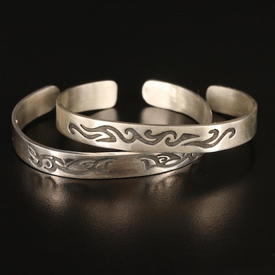 Sterling Silver Patterned Cuffs