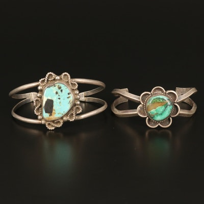 Southwestern Sterling Silver Turquoise Cuffs
