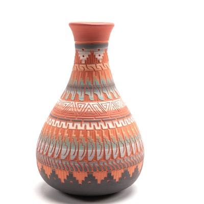 Tannia Smith Navajo Art Pottery Vase