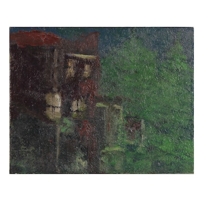 Arthur Cole Oil Painting of Residential Architecture, 2007