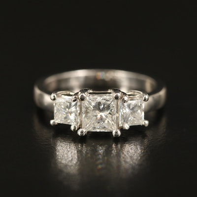14K 1.58 CTW Diamond Three Stone Ring