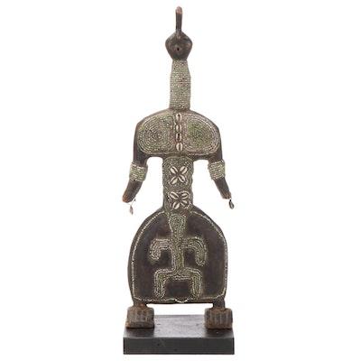 Namji Style Carved Wood Ritual Doll Figure, Cameroon