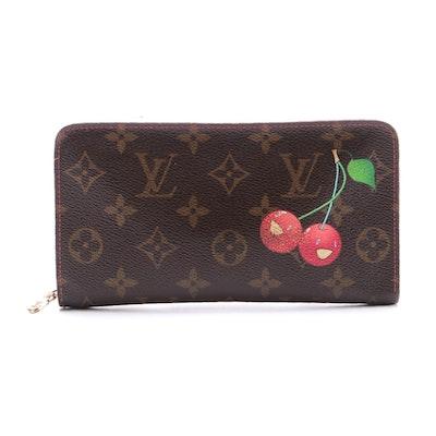 Louis Vuitton Limited Edition Cerises Zippy Long Wallet in Monogram Canvas