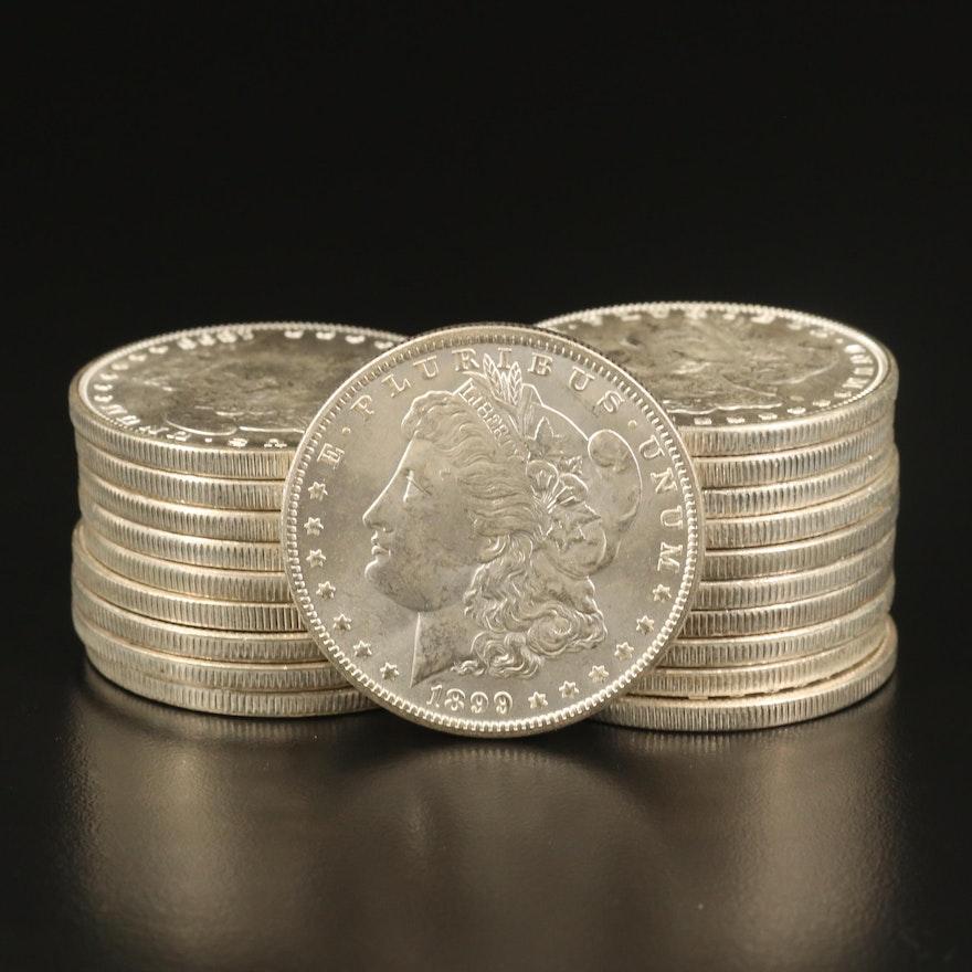 Roll of Twenty Uncirculated 1899-O Morgan Silver Dollars