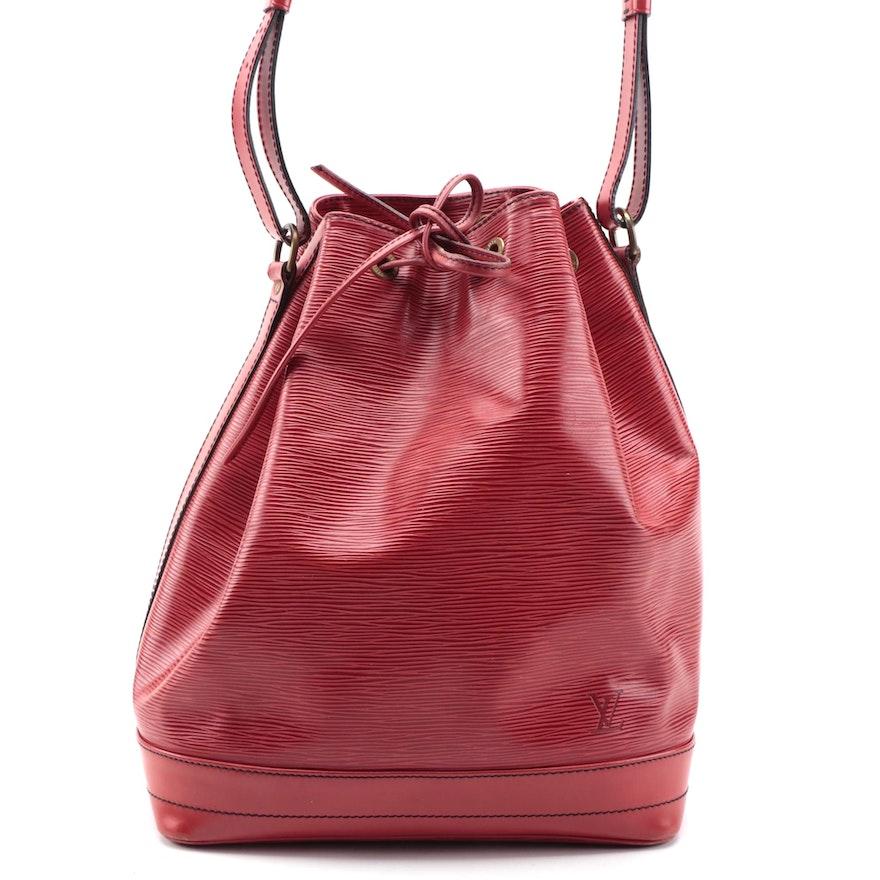 Louis Vuitton Noé Bucket Bag in Castilian Red Epi Leather
