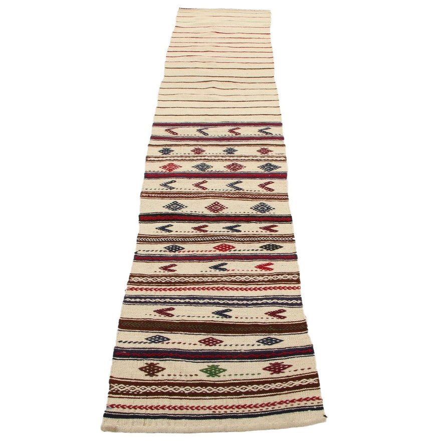 2'2 x 10'8 Handwoven Turkish Kilim Carpet Runner