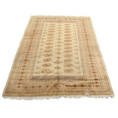 5'3 x 8'8 Hand-Knotted Pakistani Bokhara Area Rug