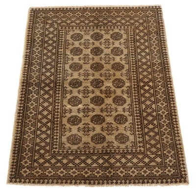 3'4 x 4'11 Hand-Knotted Afghan Turkmen Area Rug