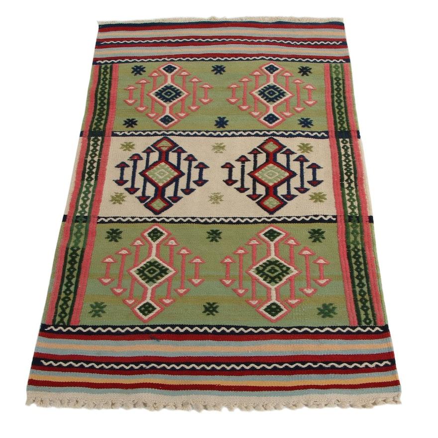 2'6 x 4'3 Handwoven Turkish Kilim Accent Rug