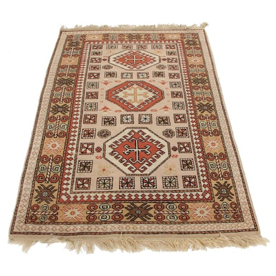 4'3 x 7'1 Hand-Knotted Turkish Area Rug