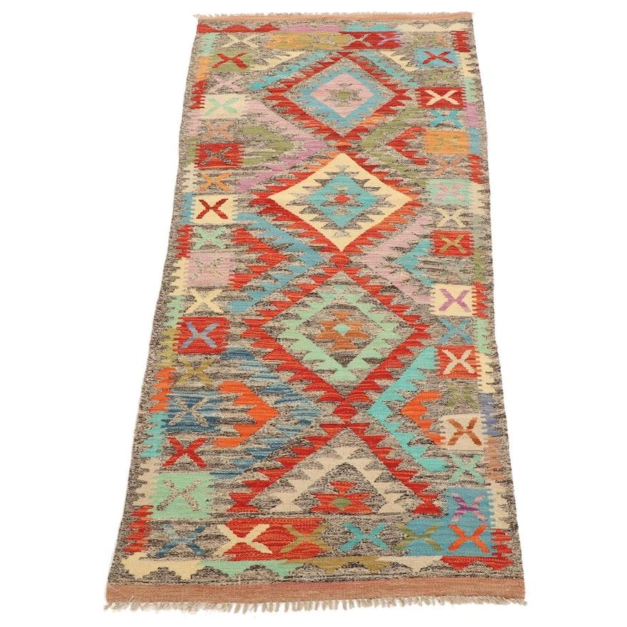 2'11 x 6'9 Handwoven Afghan Kilim Area Rug