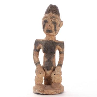 Idoma Style Carved Wood Figure, Nigeria