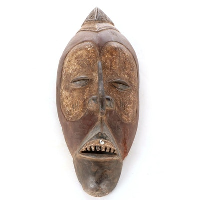 Yaka Carved Wood Mask, Democratic Republic of the Congo