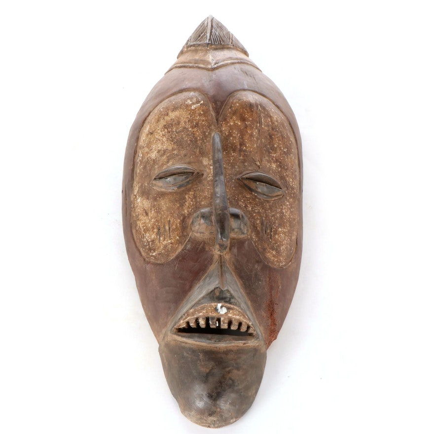 Yaka Carved Wood Mask, Democratic Republic of the Congo