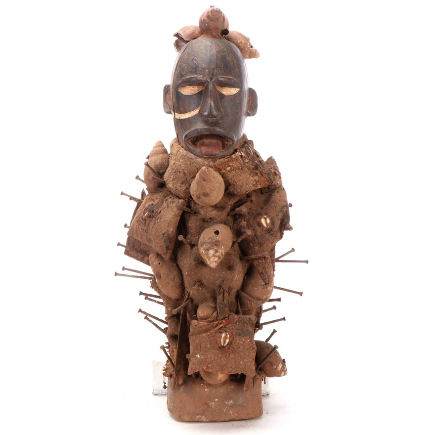 "Yombe Style ""N'Kisi N'Kondi"" Figure, Central Africa"