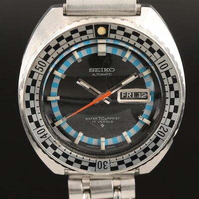 1971 Seiko Rally Diver Stainless Steel Wristwatch