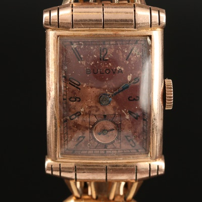Vintage Bulova 14K Gold Filled Stem Wind Wristwatch