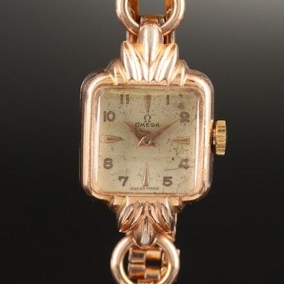1951 Omega Gold Plated Stem Wind Wristwatch