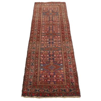 3'6 x 10'8 Hand-Knotted Persian Kurdish Long Rug