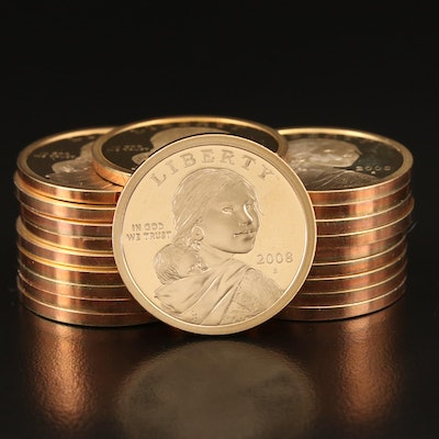 Roll of Twenty 2008-S Sacagawea Proof Dollars