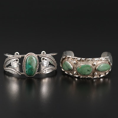 Mexican Sterling Silver Cuffs Featuring Art Plat Plata