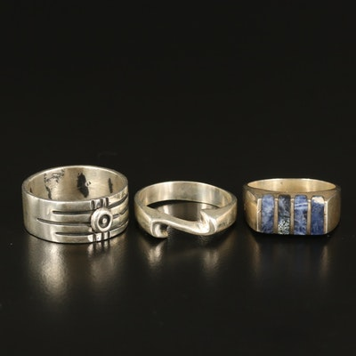 Sterling Rings Including Inlaid Sodalite