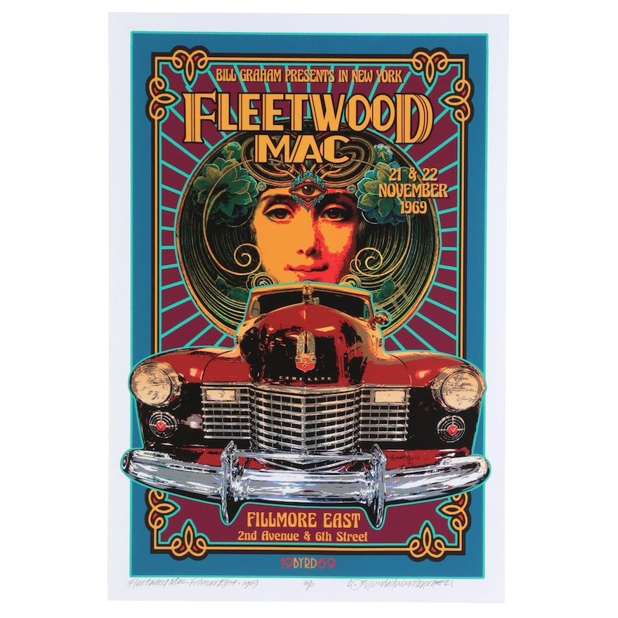 "David Edward Byrd Giclée ""Fleetwood Mac, Fillmore East - 1969,"" 2021"