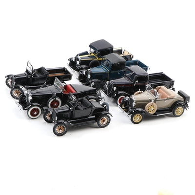 Danbury Mint Ford, Chevrolet, and Other Die Cast Classic Cars
